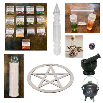 Witchcraft, Wiccan, Spell Kits, Herbs, Oils, Protection & Prosperity, #Sale