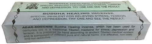 Buddha Healing Incense, Tibetan, 6 inch sticks, 1.4 ounces per pack