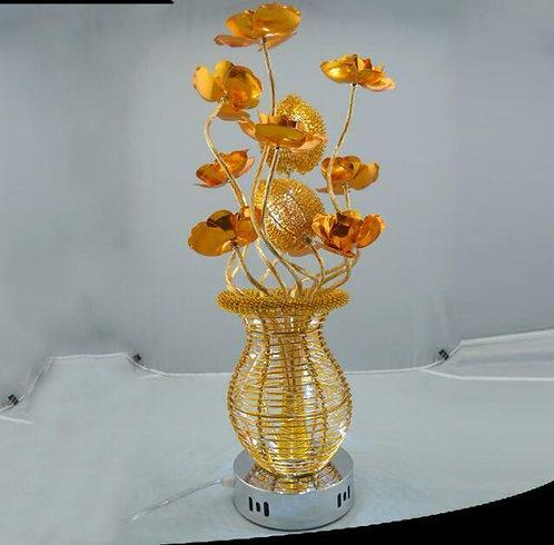 Desk Lamp, Custom, Gold Flowers, Vase Shape Base, LED