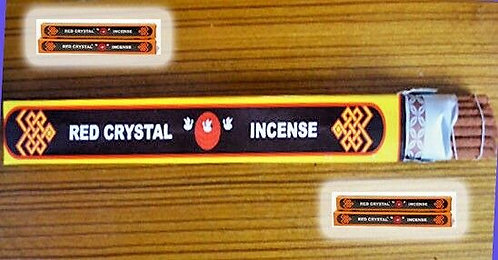 """B Quality Red Crystal Incense, Large 12""""IN, Genuine, 241 Sale"""