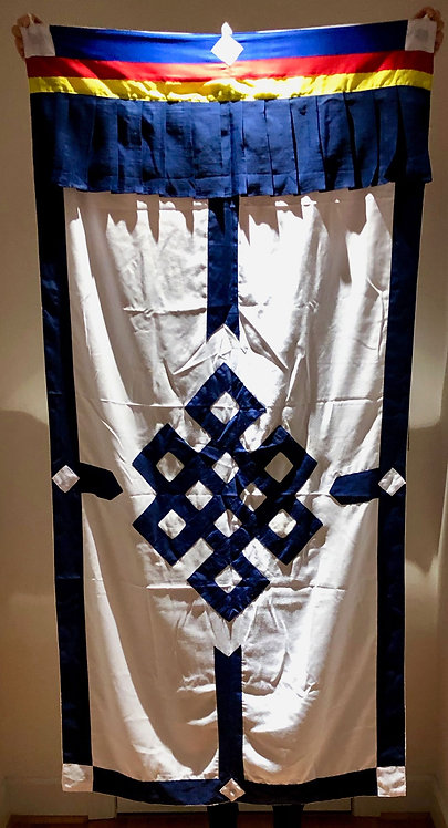 Genuine BuddhistDoor Curtain - Endless Knot