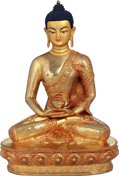 Statue, Shakyamuni, Young Buddha, Copper, Gold, Hand Painted, Quality, New!