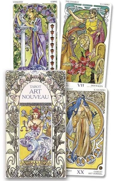 Tarot Cards, Art Nouveau, Rare, Out of Print, Lo Scarabeo, Llewellyn, Last Sets!
