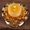 Thumbnail: Lighting, Home Decor, Gold Lotus Tea-light with leaves Set
