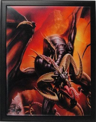 Dragon, framed art, ceramic tile, Fantasy #magic, #wiccan, #dragons, #craft,