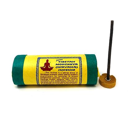 Mokchhya Nirvana Incense, Tibetan, 4 inch sticks, 30 per pack