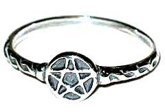 Pentagram Ring Sterling Silver Sz 5-6-7-8