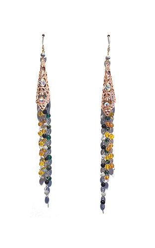 Earrings, Dangle Drop, Gold, Night Fashion, Belly Dancer, #Jewelry, #Sale