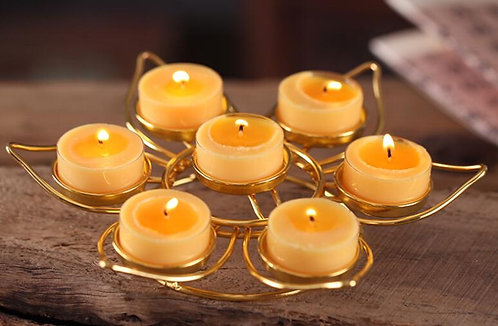 Lighting, Home Decor, Lotus, 7 Tea-light Holder Set