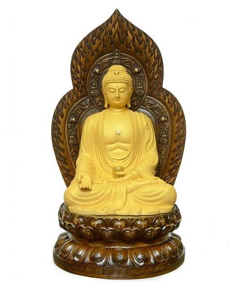 Shakyamuni Statue, Blessing, Hand Carved, Hand Painted, #buddha, #buddhi