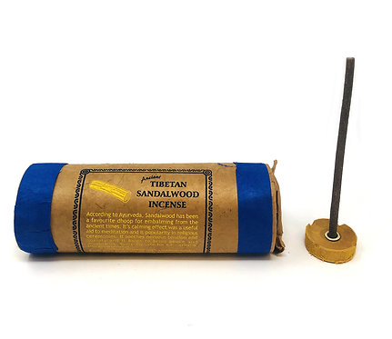 Sandalwood Incense, Tibetan, 4 inch sticks, 25 per pack