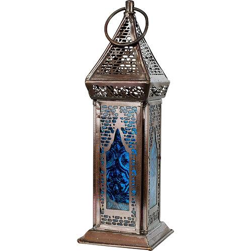 Glass & Metal Lantern Azurus Turquoise