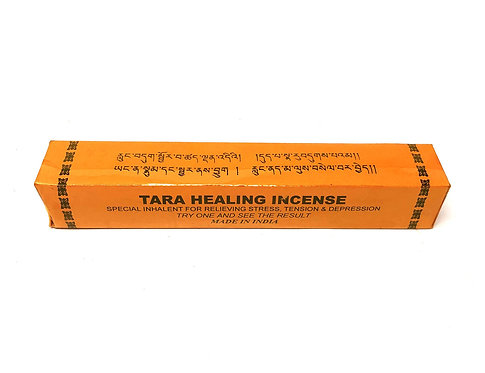 Tara Healing Incense, Tibetan, 6 inch sticks, 1.3 ounces per pack