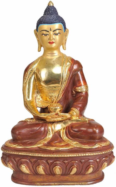 Statue, Buddha Amitabha, 24K Gold Gilded, 8.5 in tall, Buddha, Sale