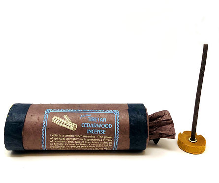 Cedarwood Incense, Tibetan, 4 inch sticks, 30 per pack