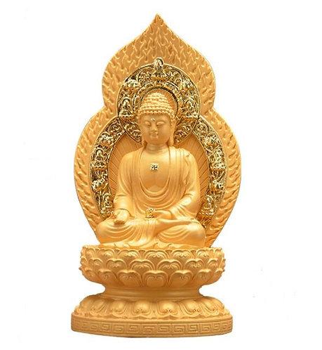 Shakyamuni Statue, Blessing, Hand Carved, Hand Painted, #buddha, #buddhist,