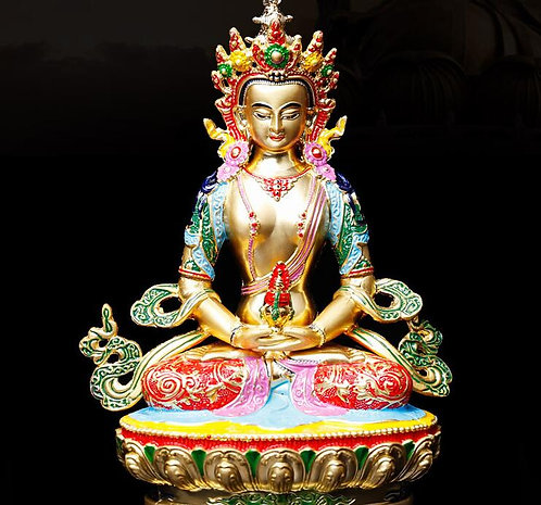 Statue, Amitabha Colored Gold Statue