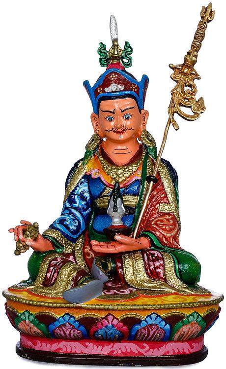 Statue, Guru Rinpoche, Copper, Fully Hand Painted, OM, Buddha, New!