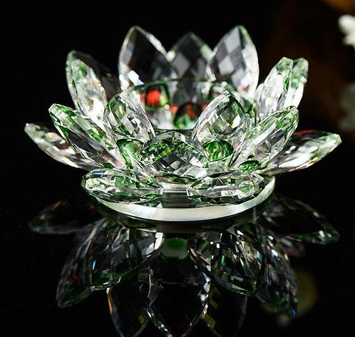 Emerald Green Lotus Flower for Tea-light or Pillar Candles