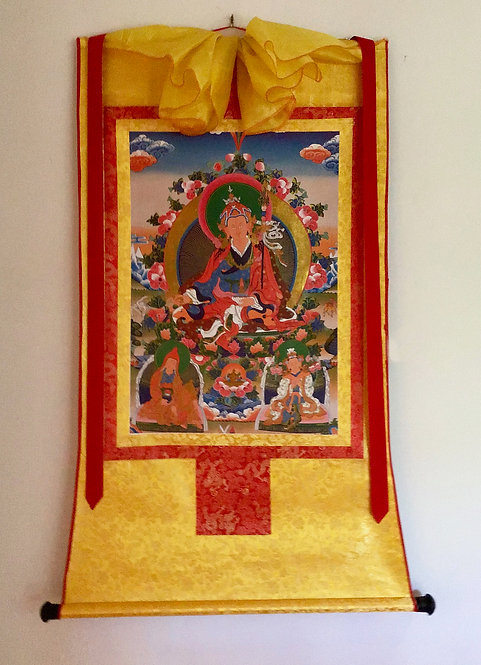 Guru Rinpoche Thangka With Real Gold