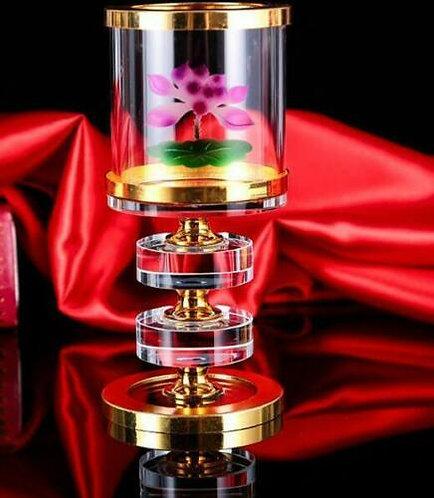 Crystal Lotus Flower Tea-light/Candle Holders/Pair