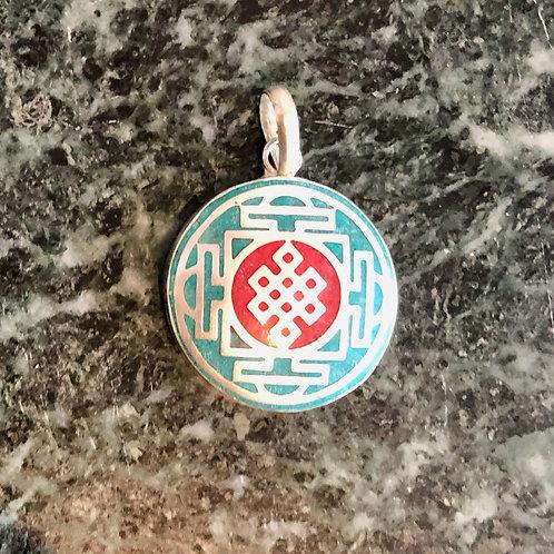 Tibetan Sterling Silver Everlasting Knot Pendant