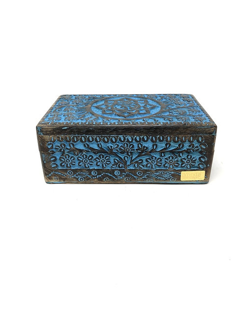Lotus Flower Treasure Box, Jewelry, Velvet Lined, Goddess, Moons, Witchcraft,