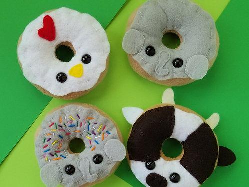 Land Animal Donut Plush