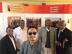 スーダン共和国ダンフォディオ石油グループの経営陣と