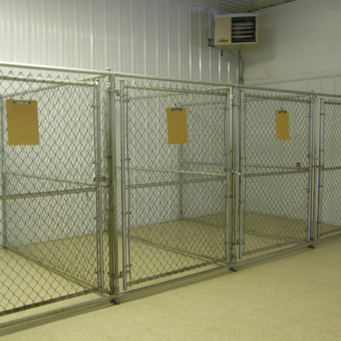 Shed Kennels across Driveway