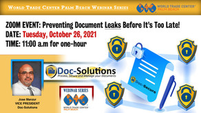 (UPDATE) Preventing Document Leaks Before It's To Late - Event Date Announced
