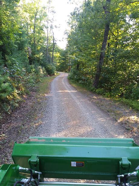 Graded gravel road