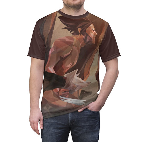 Running with Wolvies Unisex AOP Cut & Sew Tee