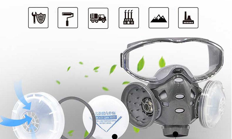KN95 Respirator Eye Goggle Protector