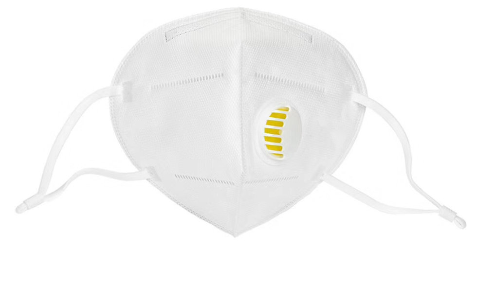 N95 Face Mask Purifier Anti-foaming Splash Proof Mask with Breathing Valve