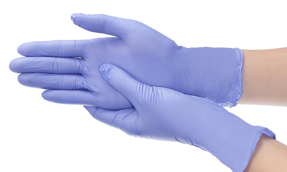 100 Disposable Nitrile Gloves Antibacterial Anti-virus Glove
