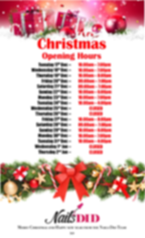 christmas opening hours nails did 20202.