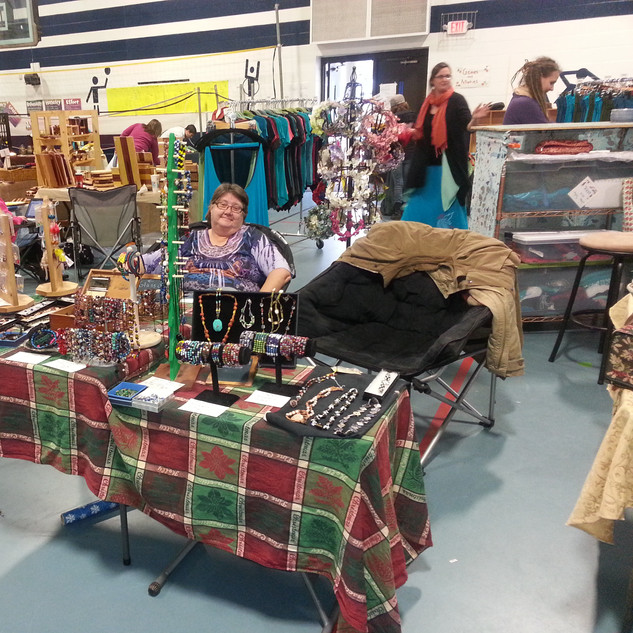 Robin at Asheville craft show