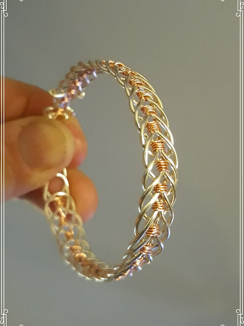Three wire woven bracelet.