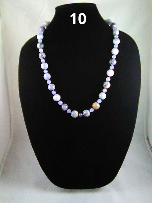 Dogthooth Amethyst and Purple dyed Jade