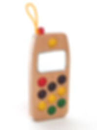 wooden toy cell phone