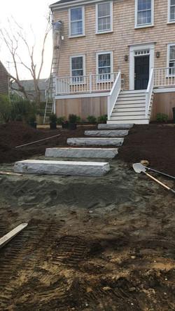 Nantucket granite steps