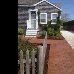 Nantucket garden design after