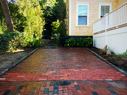 Completed driveway service.