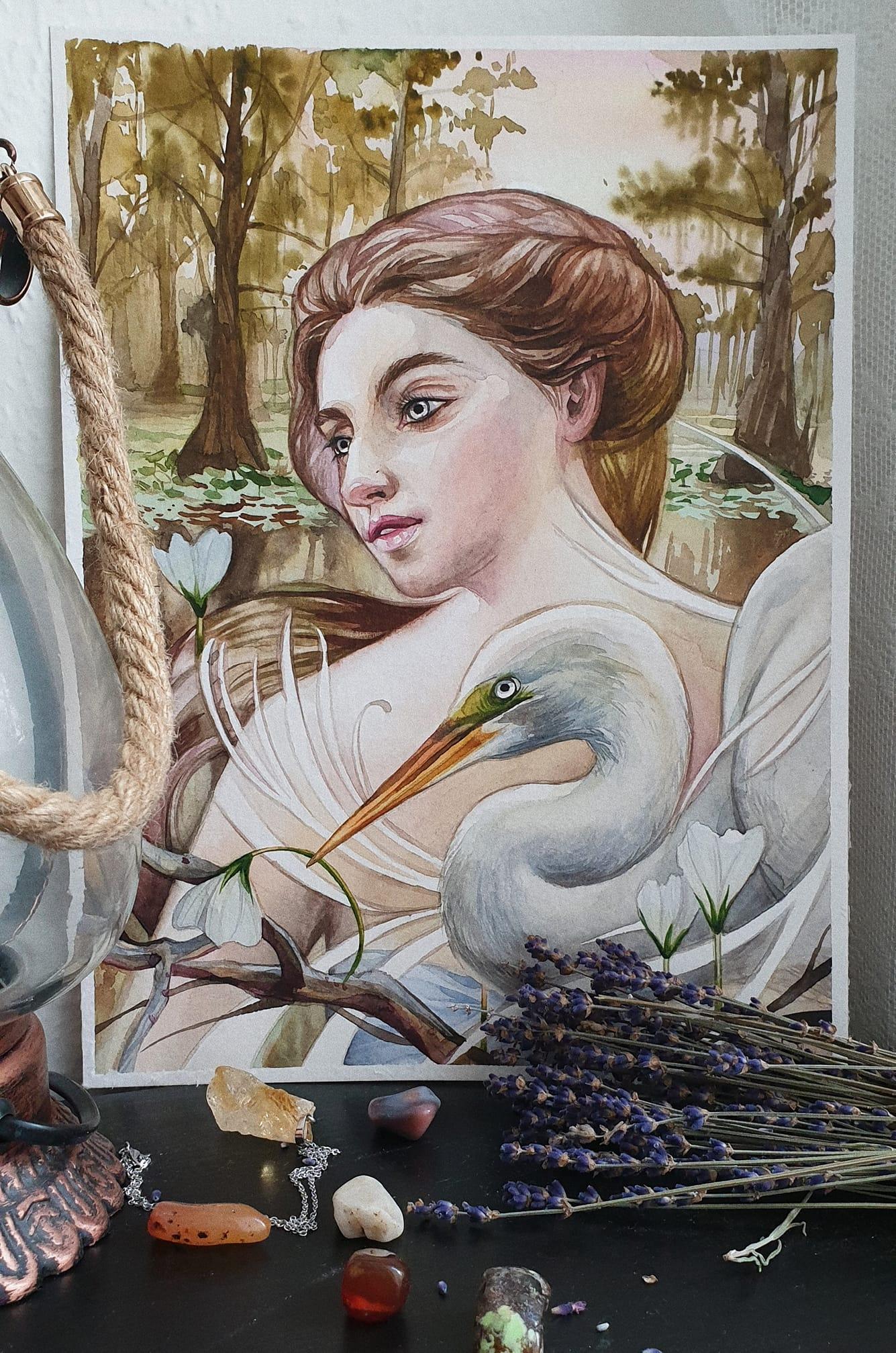 Lady of marshland