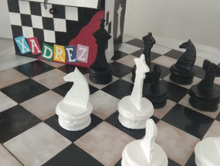 Xadrez - Tabuleiro Mega na nossa escola
