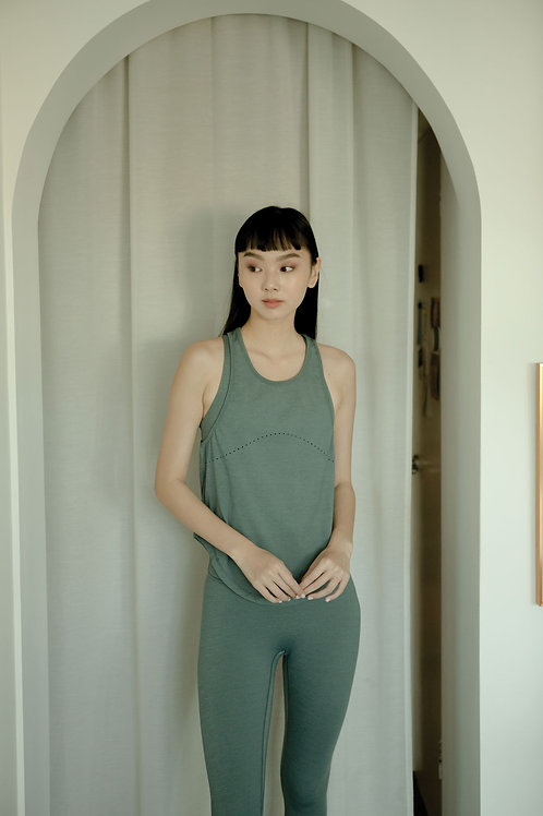 Diversity Heather Tank - Balsam Green
