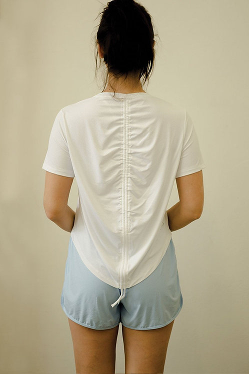 Dynamics Netted Tee - Pure White