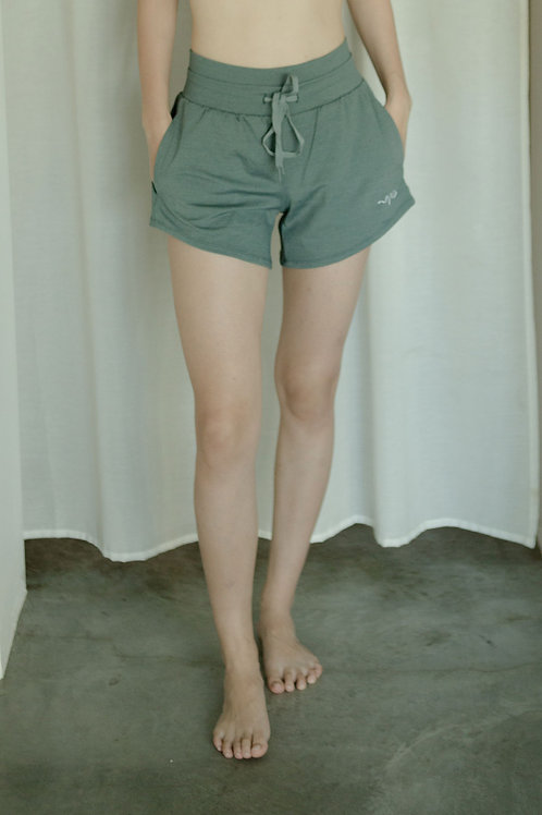 Impact Heather Shorts - Balsam Green