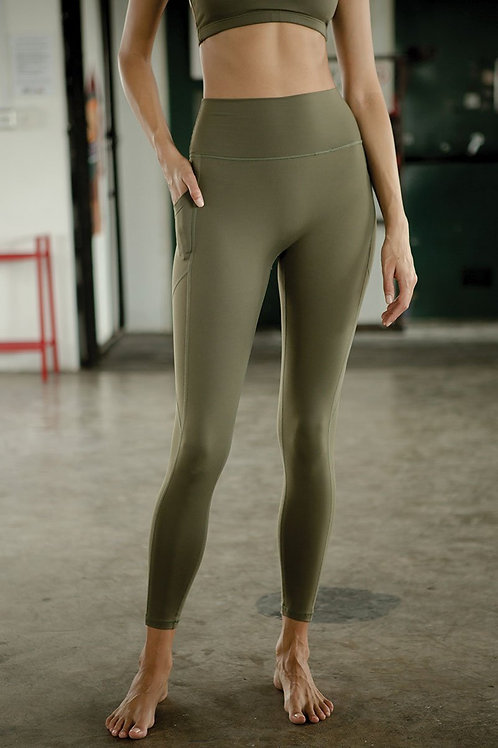 Radiate High-Rise Performance Tights - Olive Night
